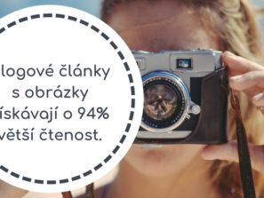 Blogové články s obrázky získávají o 94% větší čtenost.