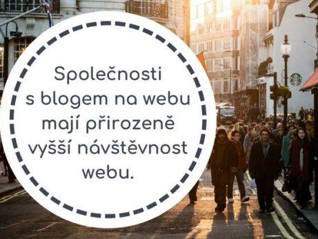 Společnosti s blogem na webu mají přirozeně vyšší návštěvnost webu.